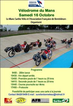 Championnats de France de vélos couchés au Mans