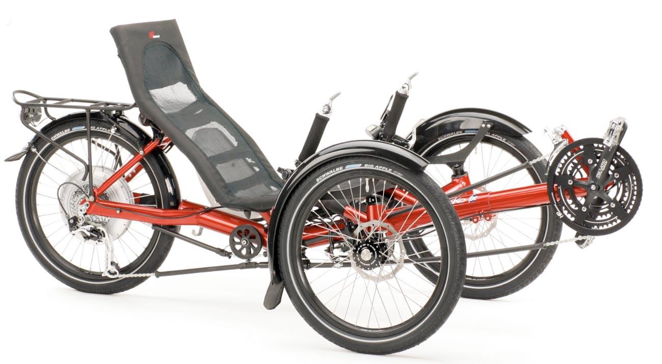 Le nouveau tricycle couch pliant compact hp velotechnik - Tricycle couche electrique ...
