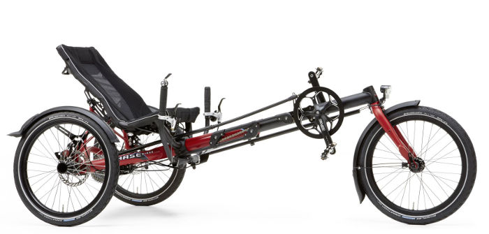 Trike Hasebikes pour adulte, delta